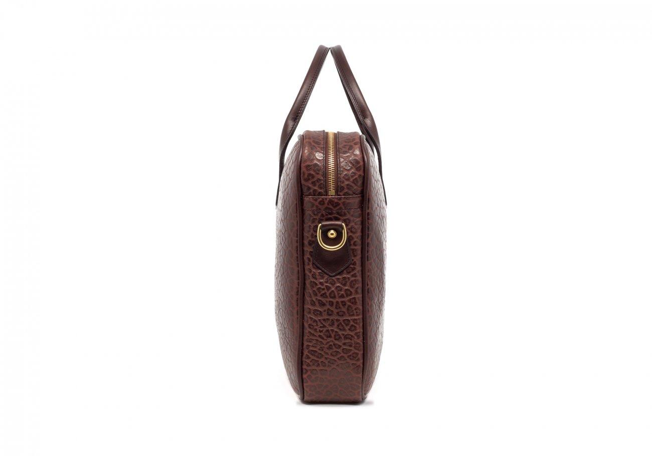 Chocolate Laptop Computer Leather Briefcase Shrunken Grain6 1 1