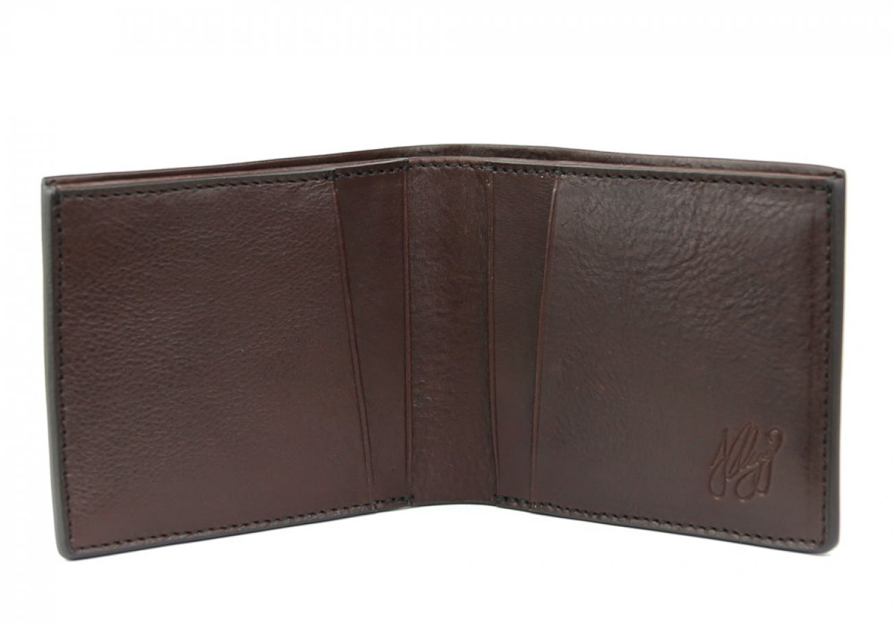 Chocolate Leather Bifold Wallet  Frank Clegg Made In Usa 1