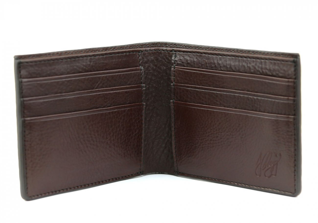 Chocolate Leather Bifold Wallet  Frank Clegg Made In Usa 2