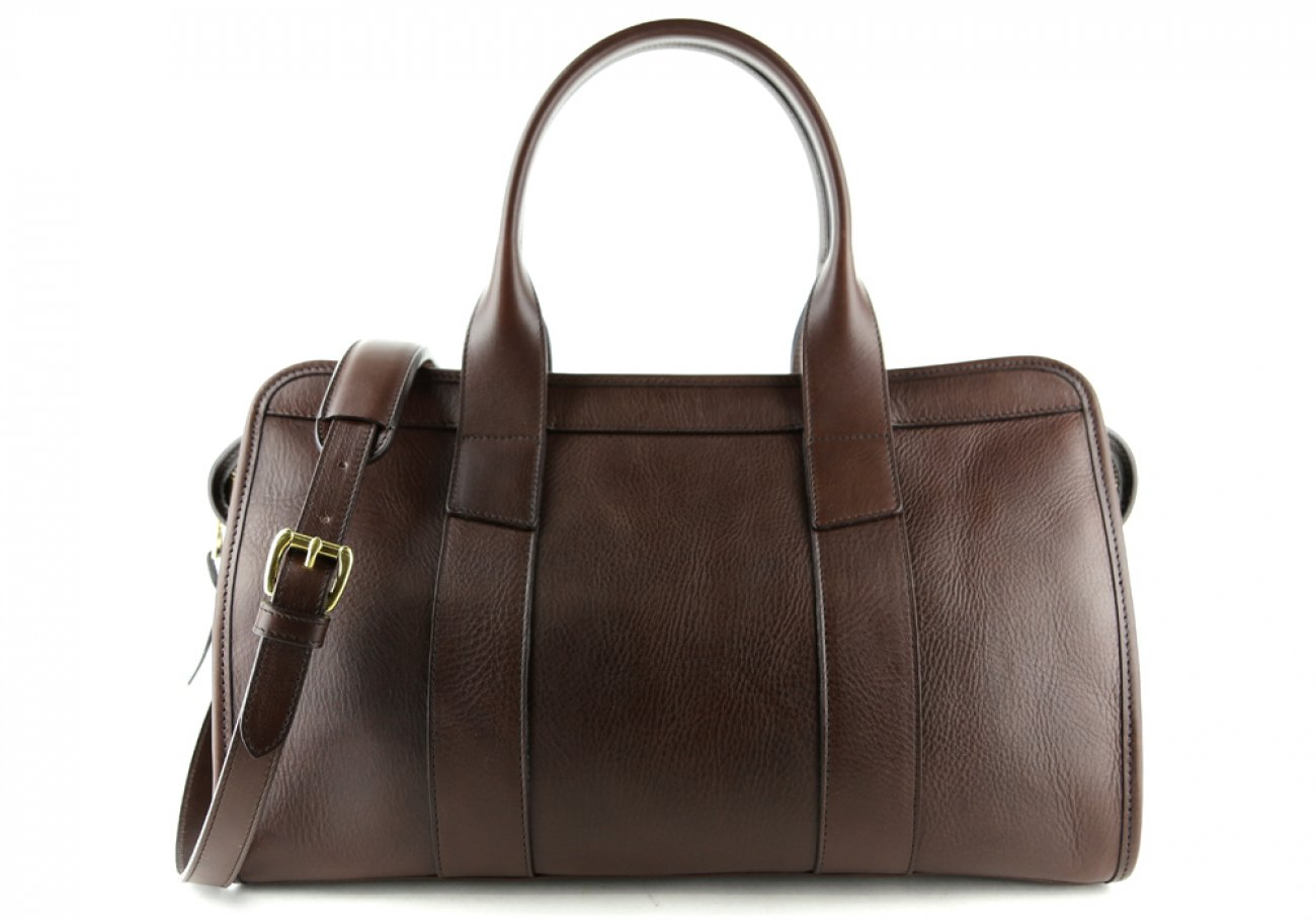 Chocolate Leather Signature Satchel Frank Clegg Made In Usa 1