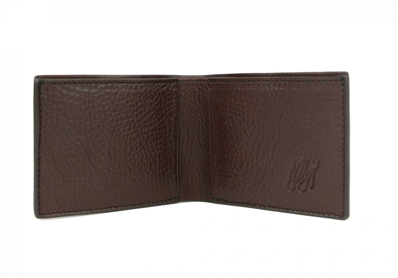 Chocolate Leather Slim Wallet  Frank Clegg Made In Usa 2