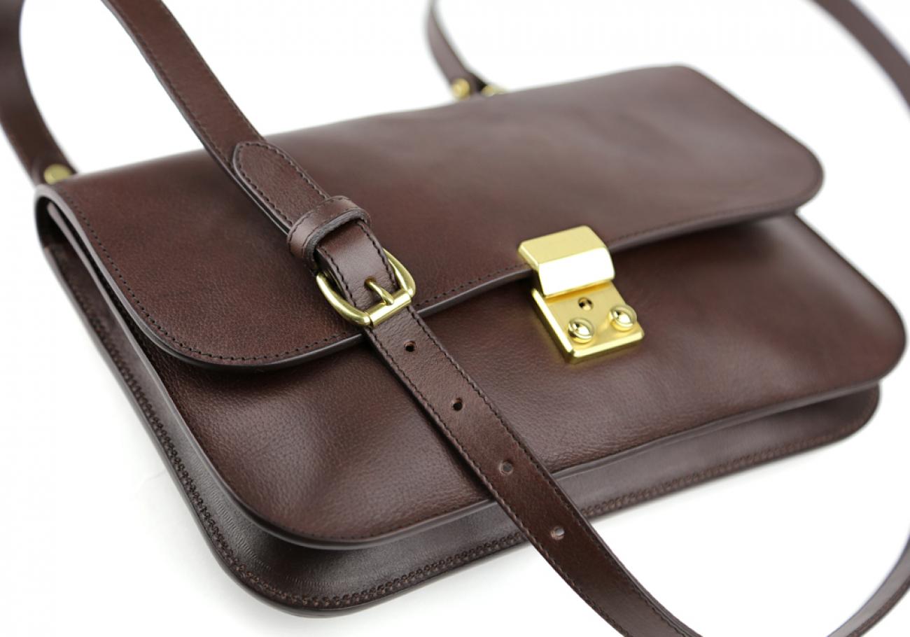 Chocolate Lock Clutch Frank Clegg Made In Usa 5