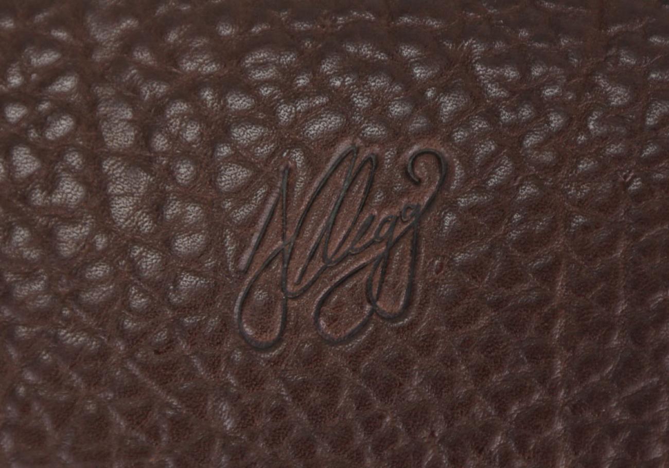 Chocolate Shrunken Grain Leather Frank Clegg Made In Usa 1