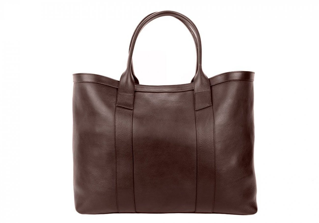 Chocolate Signature Working Tote Made In Usa Frank Clegg 1 3