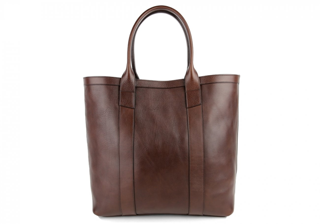 Chocolate Tall Medium Tote Made In Usa Frank Clegg 1
