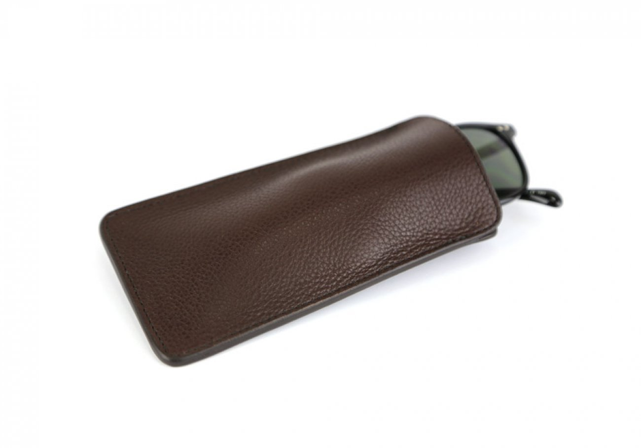 Chocolate Tumbled Leather Eye Glass Case Frank Clegg Made In Usa 1 1