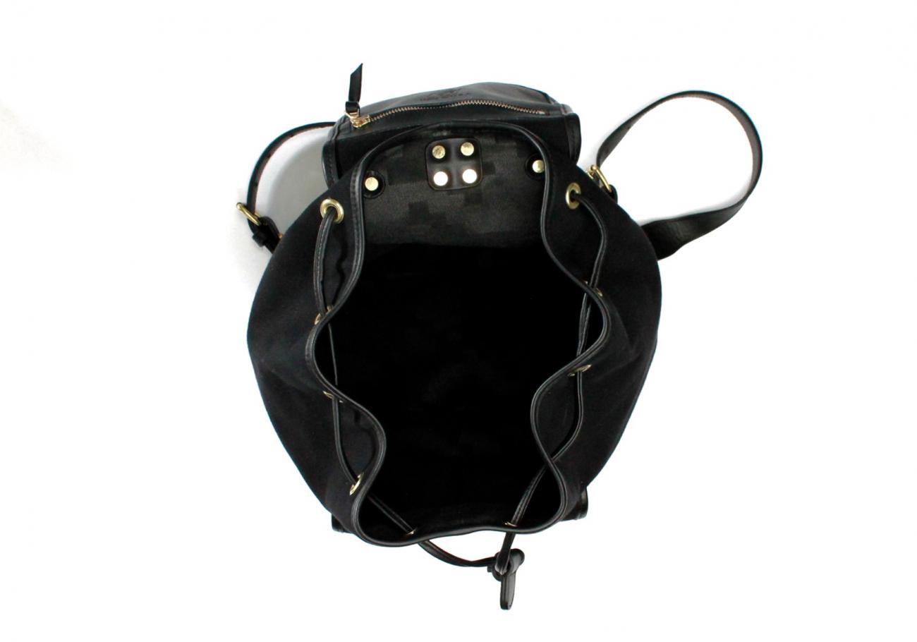 Classic Backpack Black Charcoal Large Herringbone2