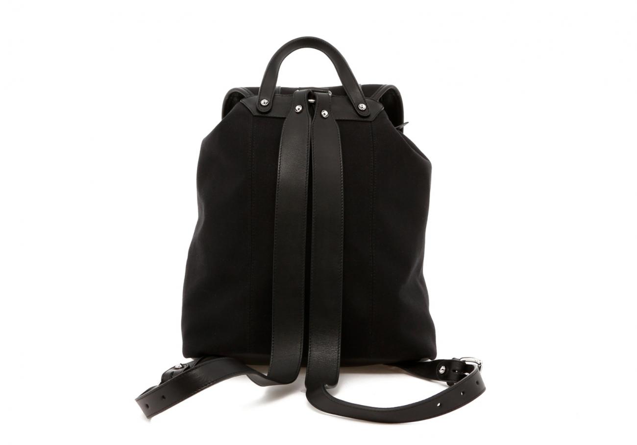 Classic Backpack Black Charcoal Large Herringbone3