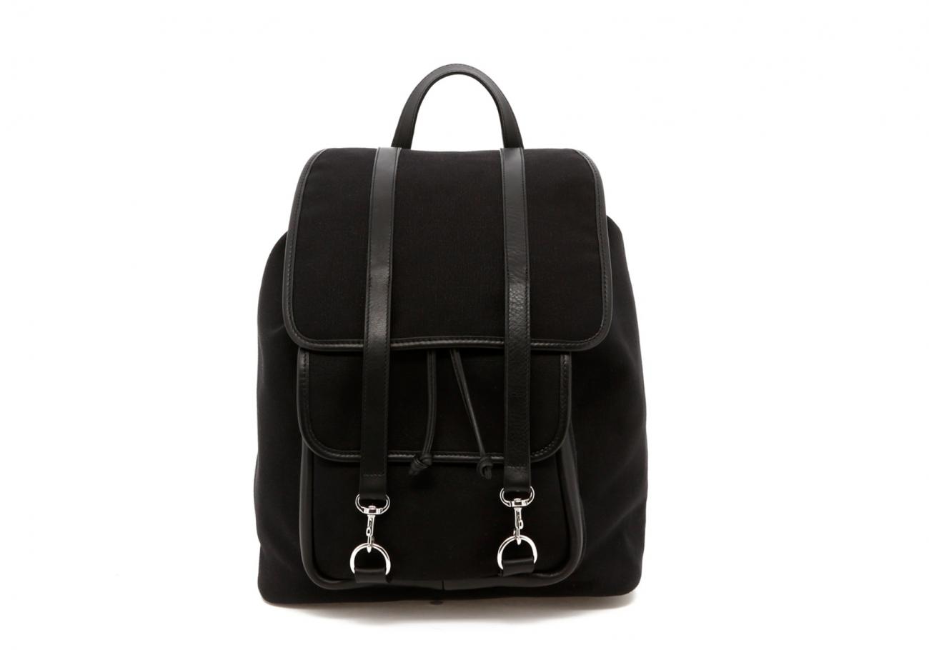 Classic Backpack Black Charcoal Large Herringbone4