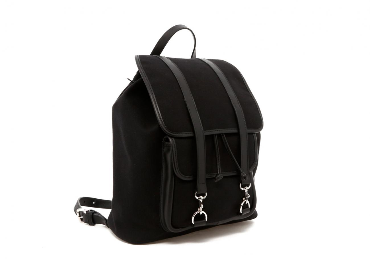 Classic Backpack Black Charcoal Large Herringbone5