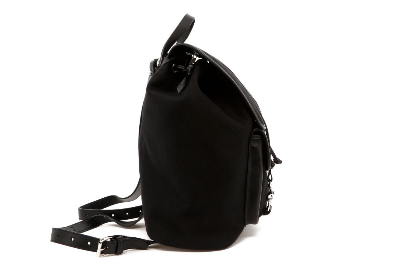 Classic Backpack Black Charcoal Large Herringbone6