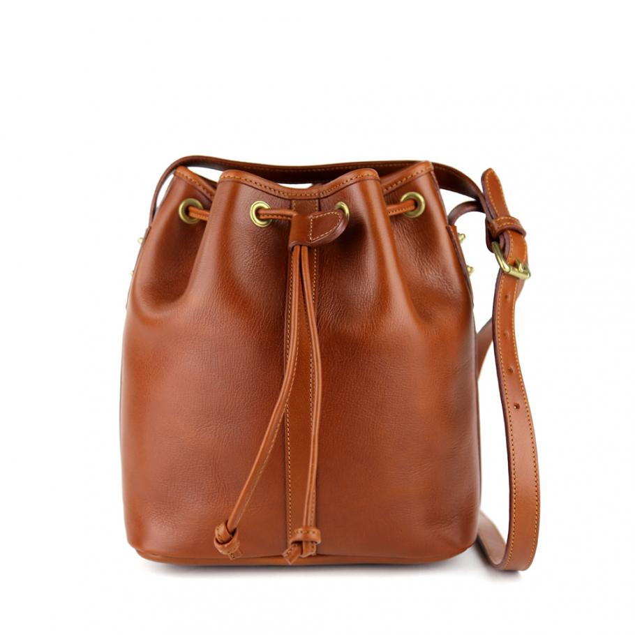 Cognac Bucket Bag Frank Clegg Main