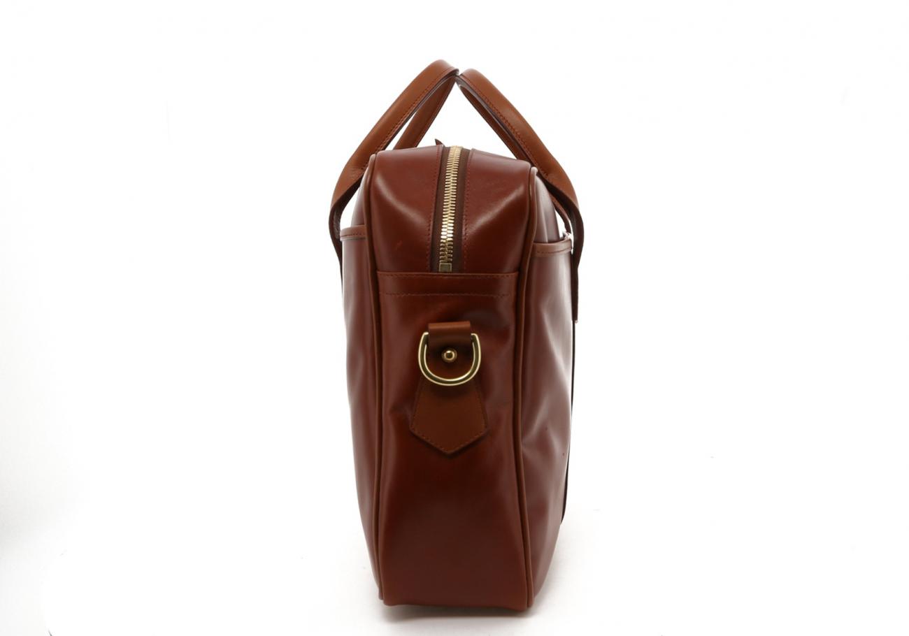 Cognac Calf Leather Commuter Brief D