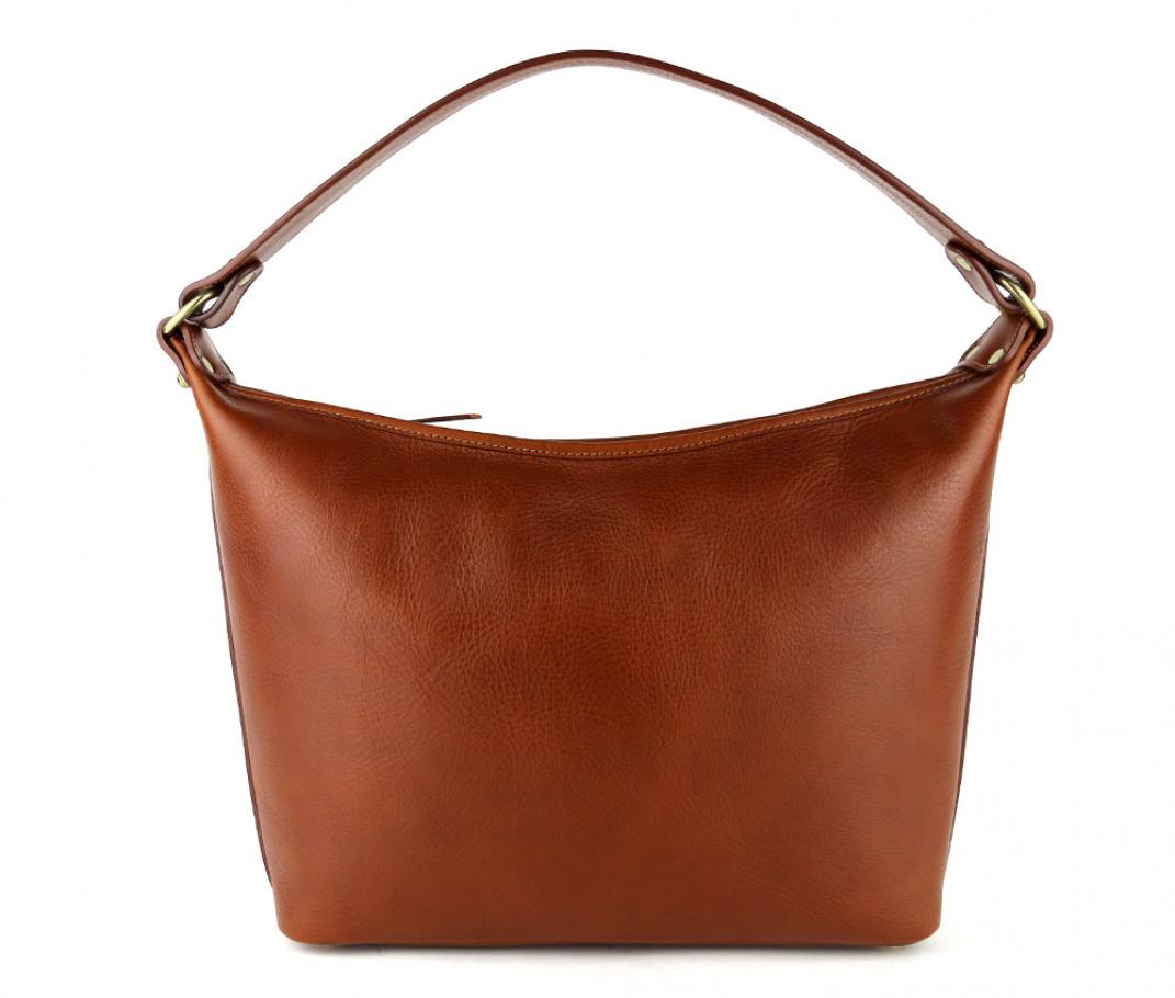 Cognac Daisy Shoulder Bag Frank Clegg Made In Usa 1