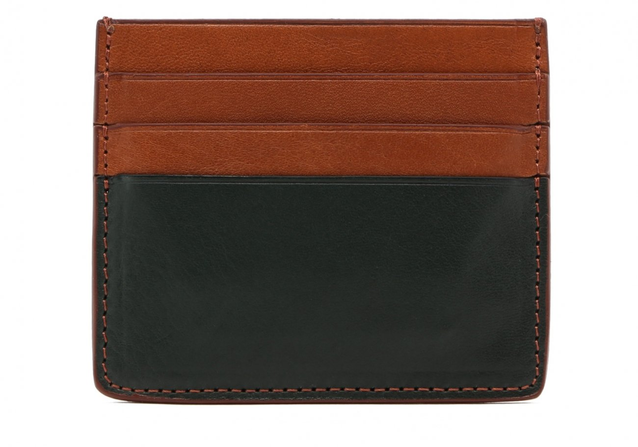 Cognac Green Triple Card Wallet2