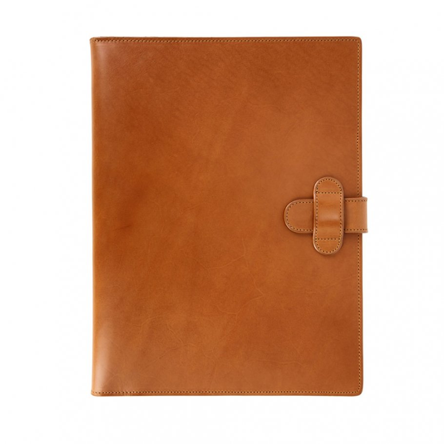 Cognac Harness Belting Leather Note Pad Frank Clegg Made In Usa 1
