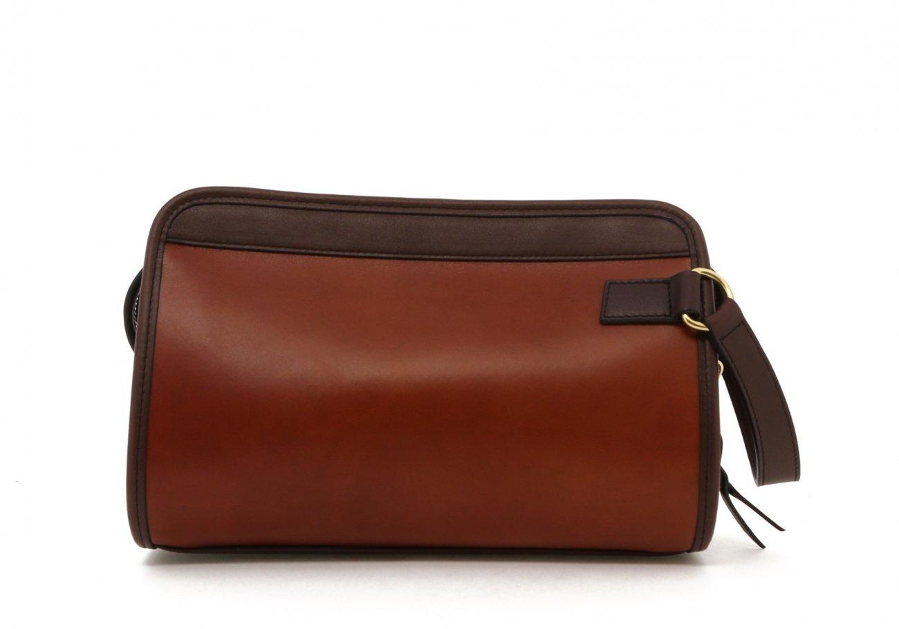 Cognac Harness Belting Travel Kit B