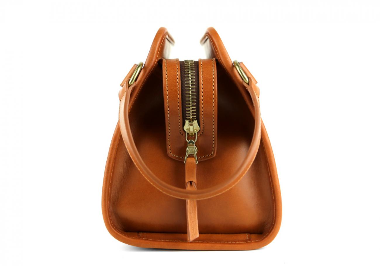 Cognac Large Belting Leather Travel Kit Frank Clegg Made In Usa 3