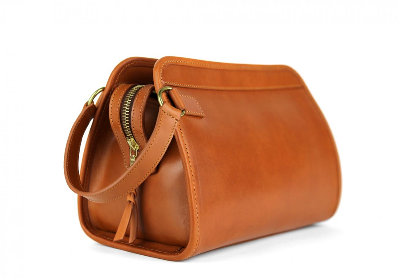 Cognac Large Belting Leather Travel Kit Frank Clegg Made In Usa 4