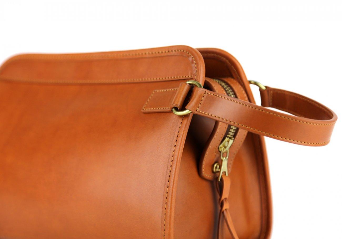 Cognac Large Belting Leather Travel Kit Frank Clegg Made In Usa 7