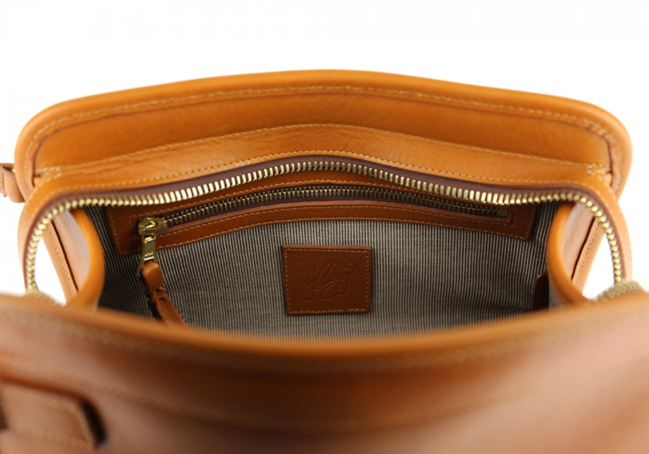 Cognac Large Tumbled Leather Travel Kit Frank Clegg Made In Usa 6 1