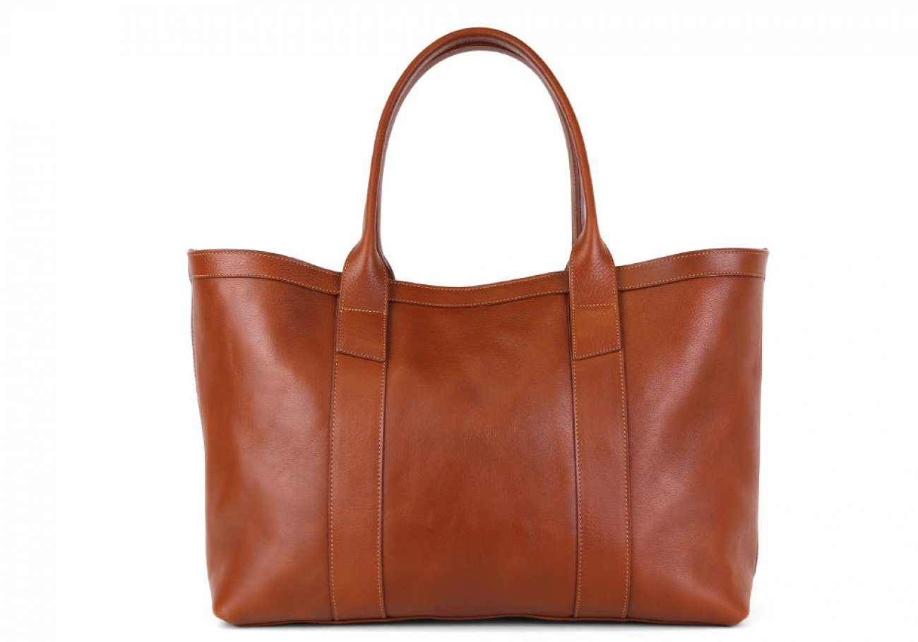 Cognac Large Working Tote Made In Usa Frank Clegg 1 1