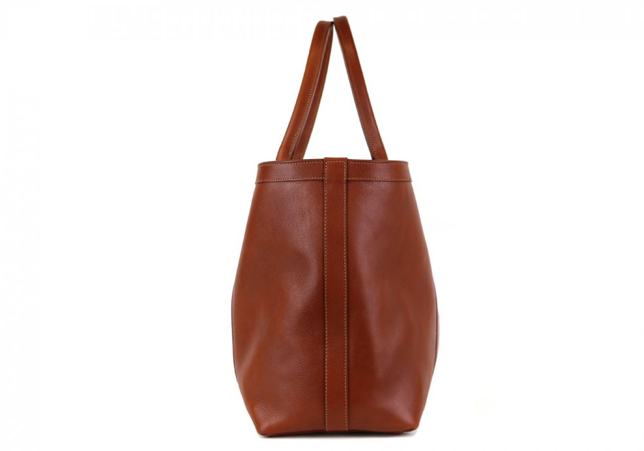 Cognac Large Working Tote Made In Usa Frank Clegg 3