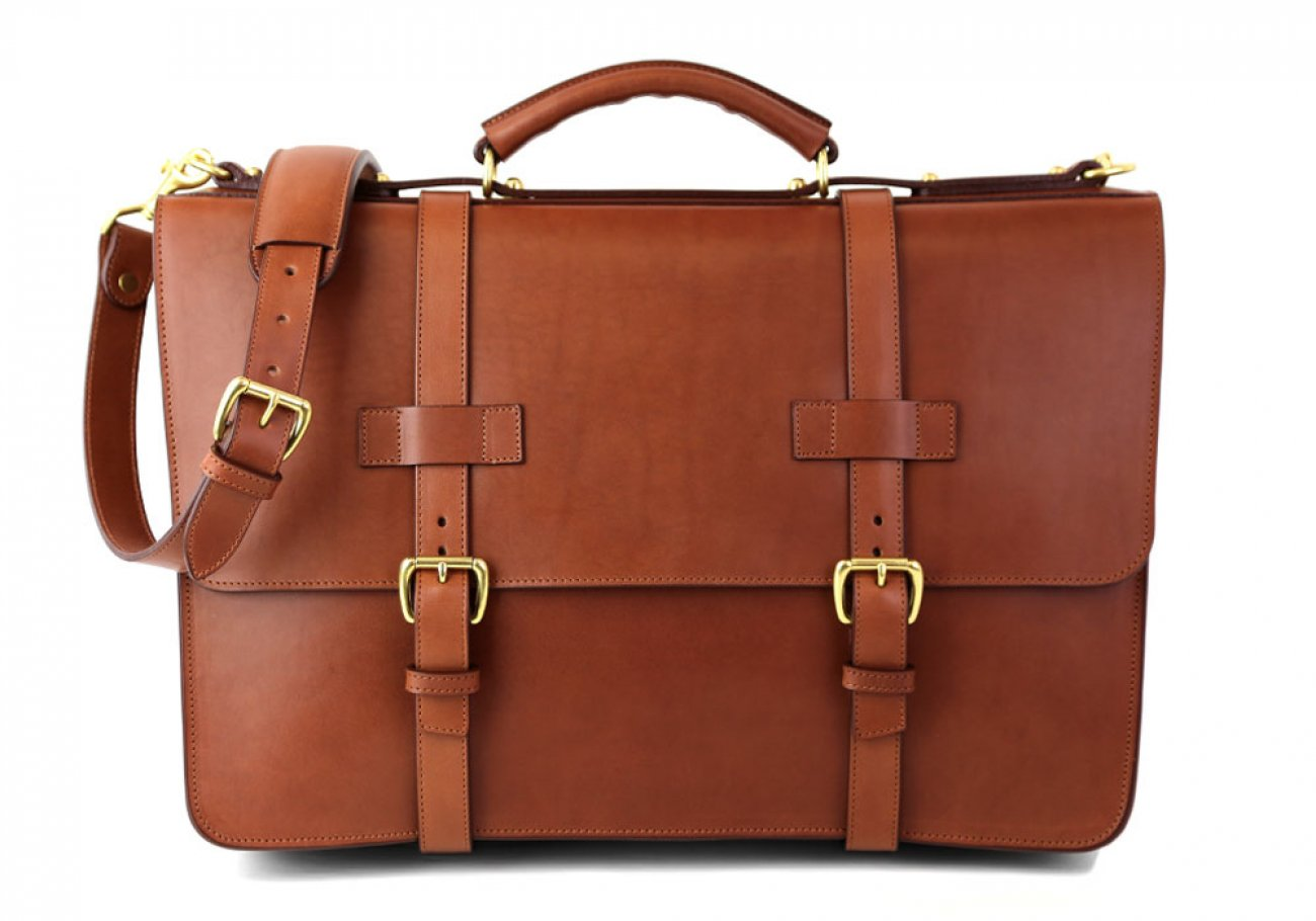 Cognac Leather American Briefcase Frank Clegg Made In Usa 1 1