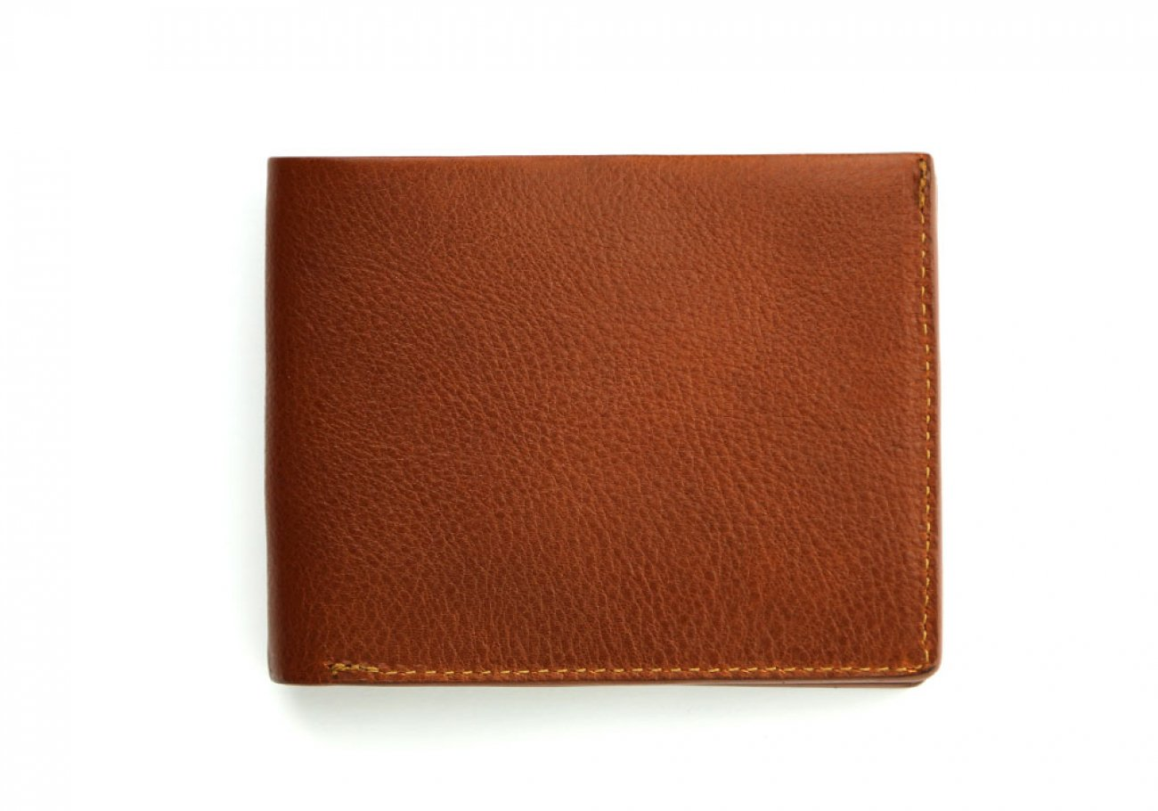 Cognac Leather Bifold Wallet  Frank Clegg Made In Usa 1 1