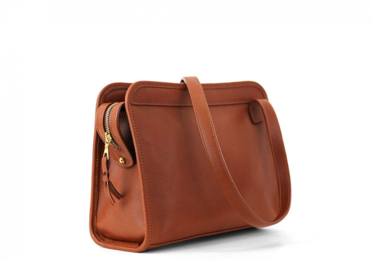 Cognac Leather Blazer Bag Frank Clegg Made In Usa 1
