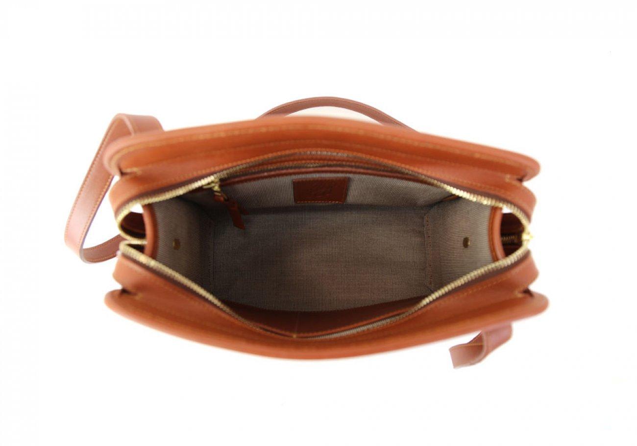 Cognac Leather Blazer Bag Frank Clegg Made In Usa 5