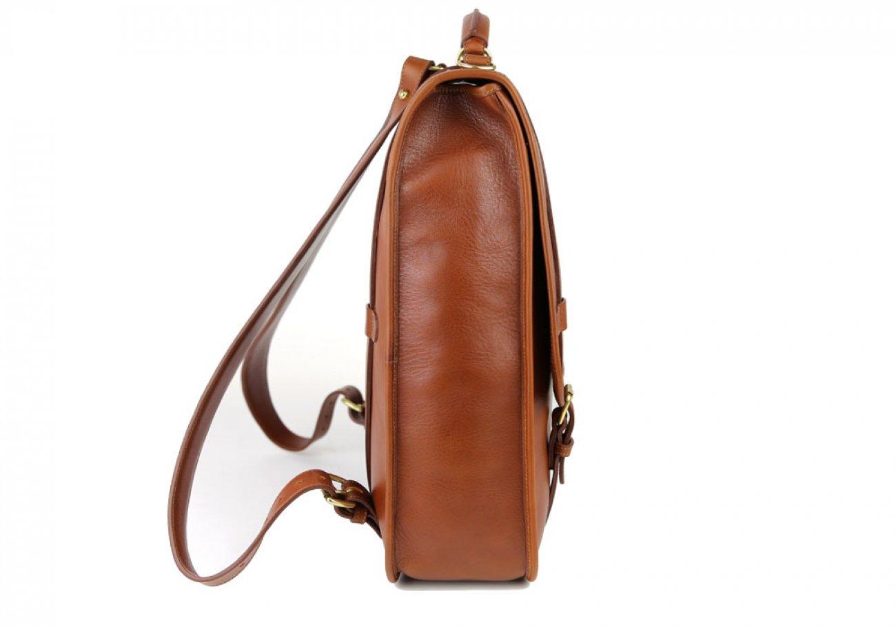 Cognac Leather Bucklebackpack Frank Clegg Made In Usa 3