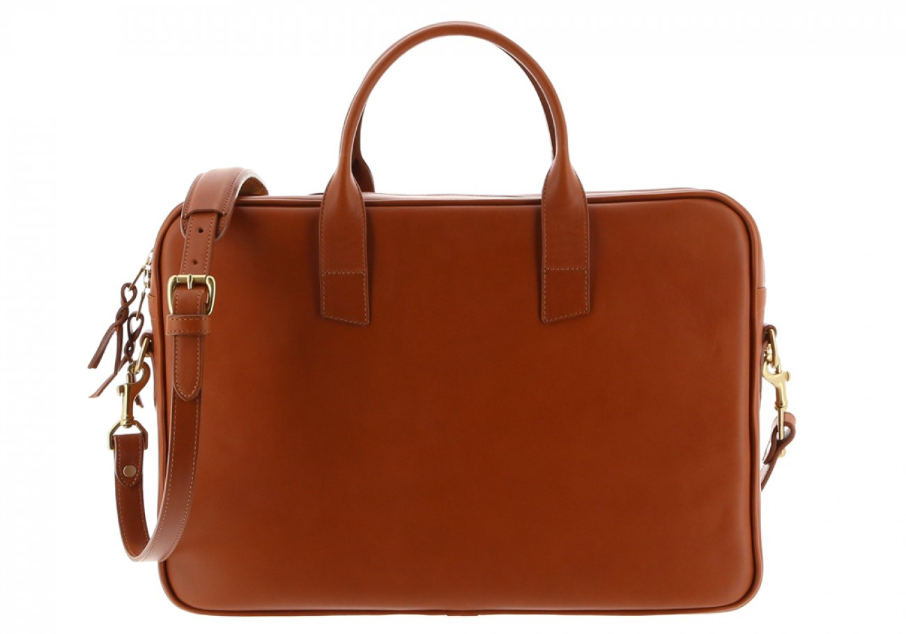 Cognac Leather Computer Briefcase Frank Clegg 1 1