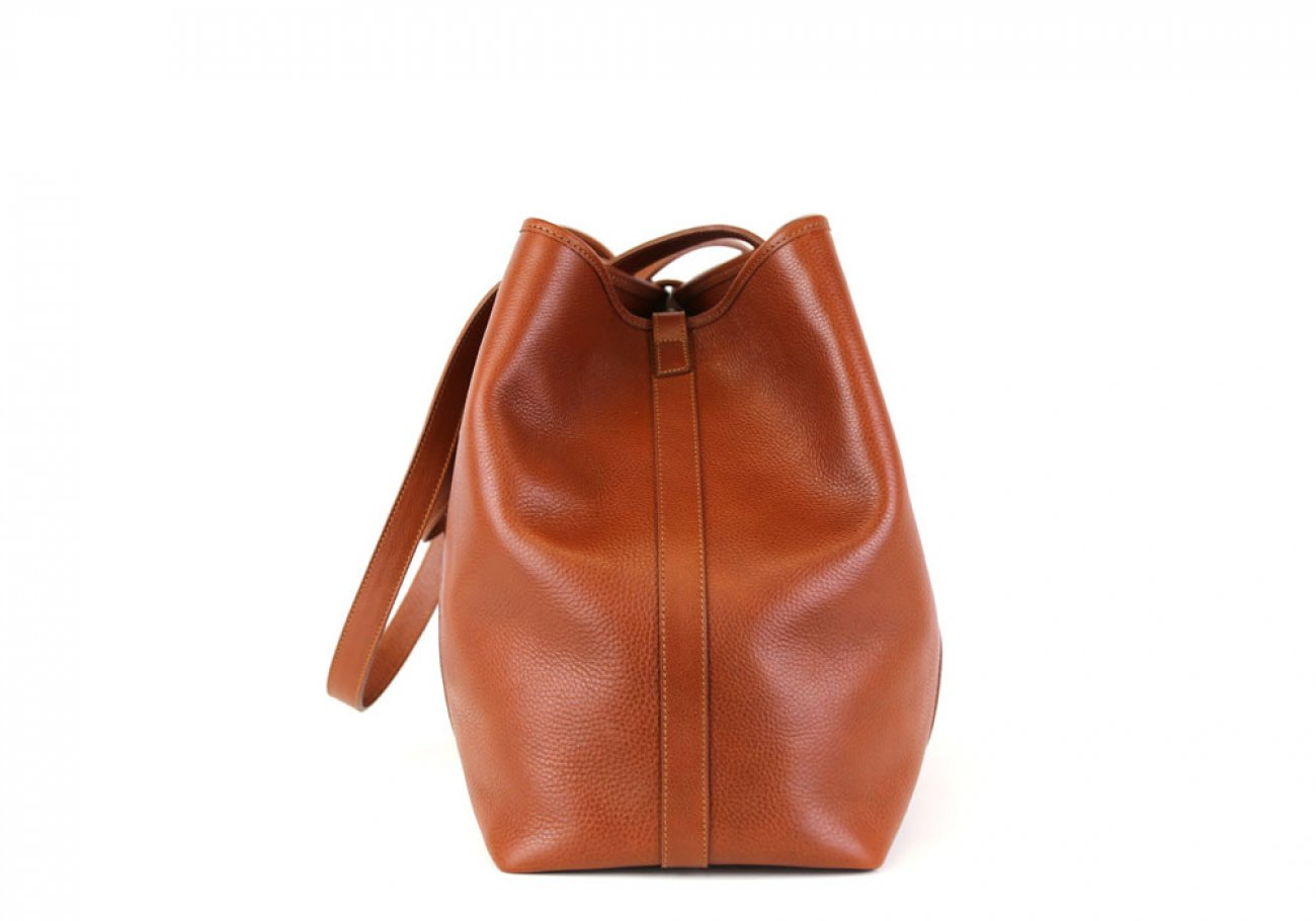 Cognac Leather Large Handbag Tote Frank Clegg Made In Usa 3