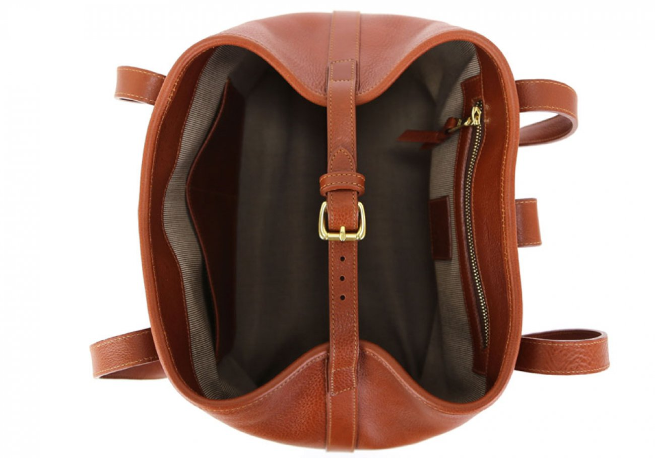 Cognac Leather Md Handbag Tote Frank Clegg Made In Usa 7