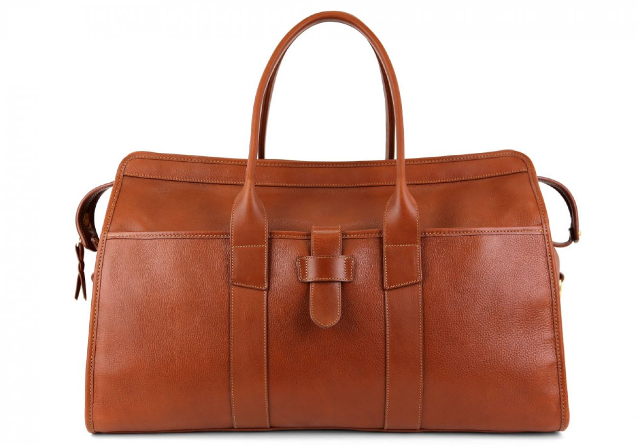 Cognac Leather Troy Duffle Bag Frank Clegg Made In Usa 1 1