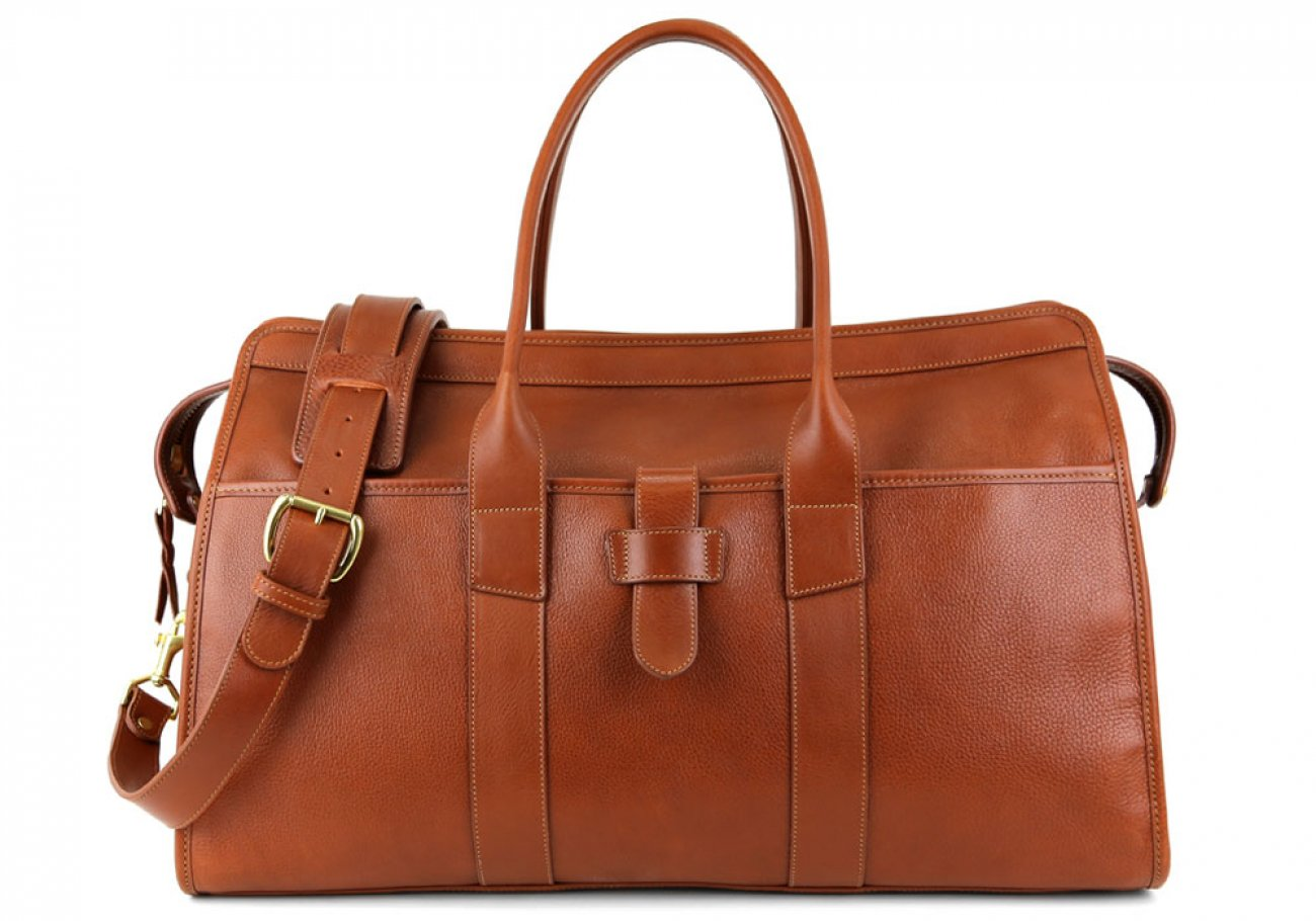 Cognac Leather Troy Duffle Bag Frank Clegg Made In Usa 2 1