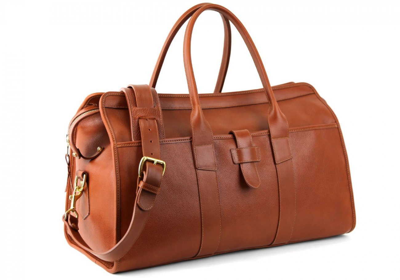 Cognac Leather Troy Duffle Bag Frank Clegg Made In Usa 3 1