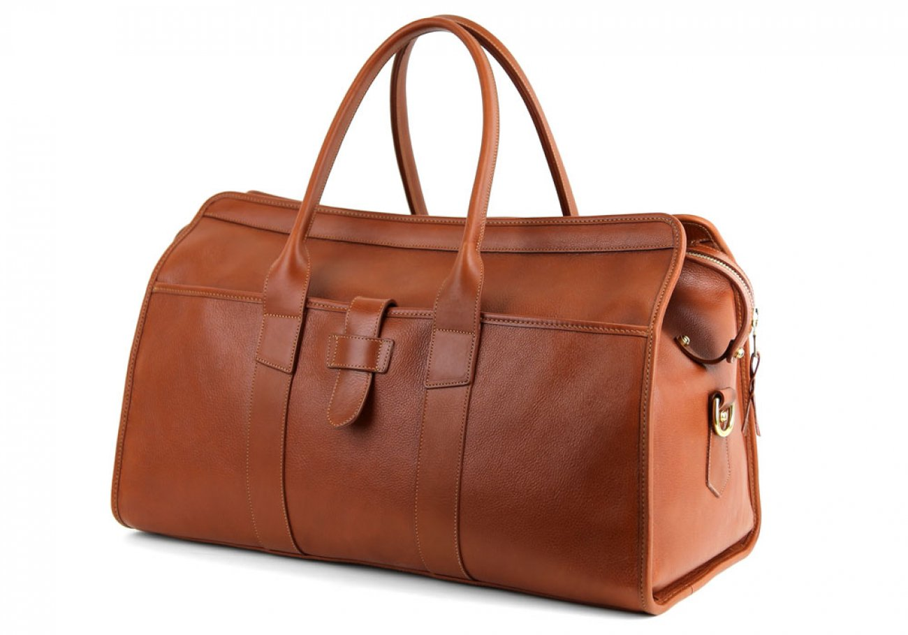Cognac Leather Troy Duffle Bag Frank Clegg Made In Usa 4 1