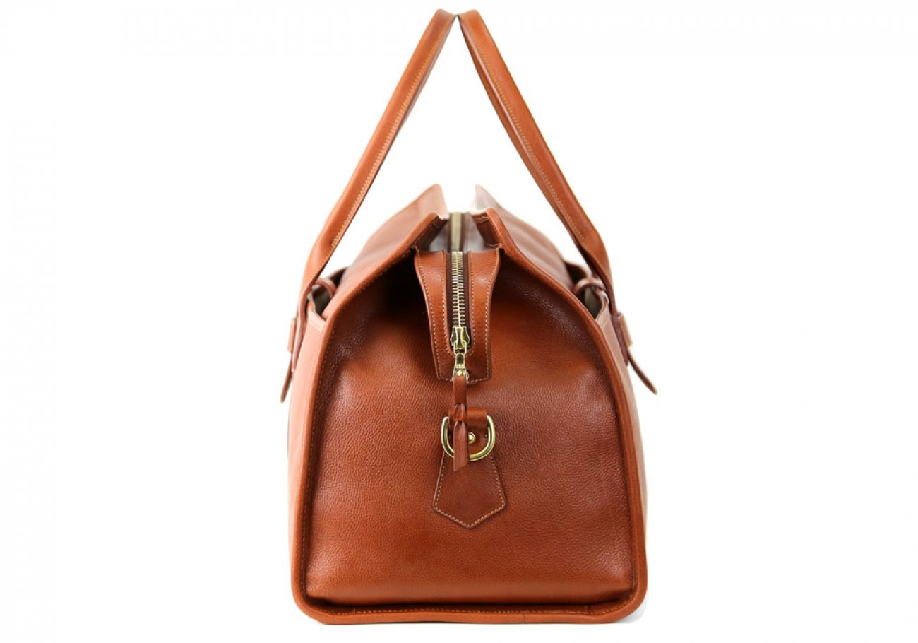 Cognac Leather Troy Duffle Bag Frank Clegg Made In Usa 5 1