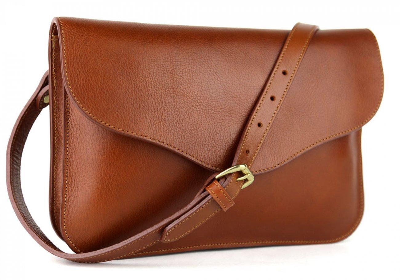 Cognac Maddie Shoulder Bag Frank Clegg Made In Usa 2