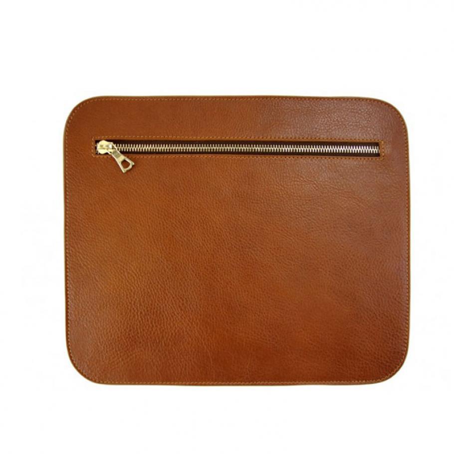 Cognac Pencilcase Clutches Large1