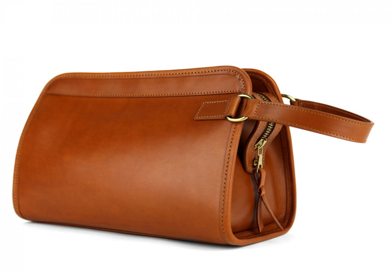 Cognac Small Belting Leather Travel Kit Frank Clegg Made In Usa 2
