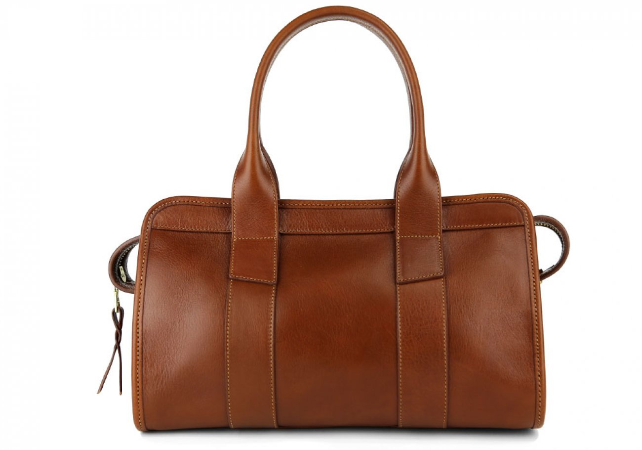 Cognac Small Leather Signature Satchel Frank Clegg Made In Usa 4
