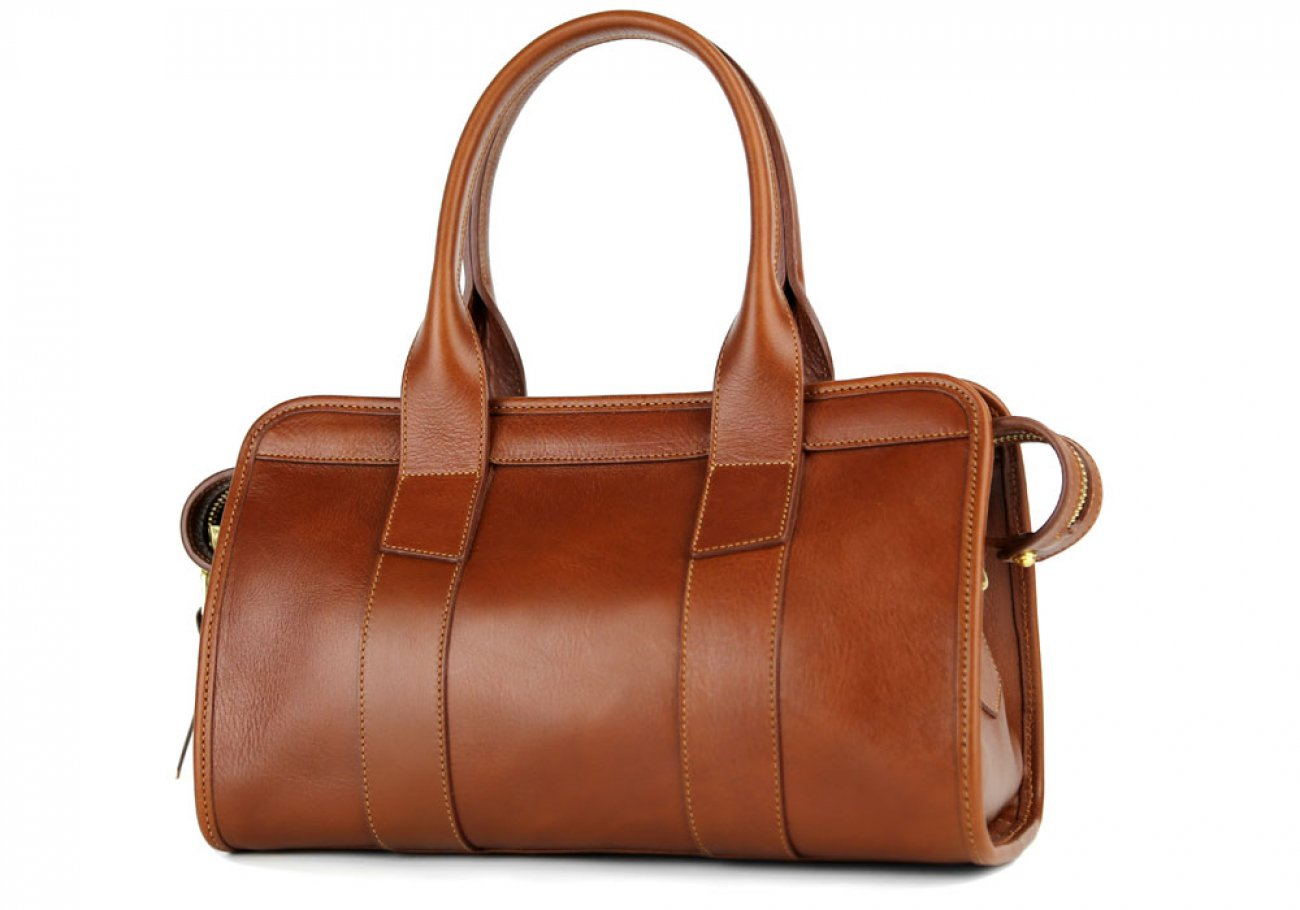 Cognac Small Leather Signature Satchel Frank Clegg Made In Usa 5