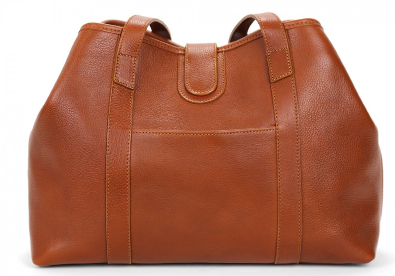 Cognacs Leather Md Handbag Tote Frank Clegg Made In Usa 4
