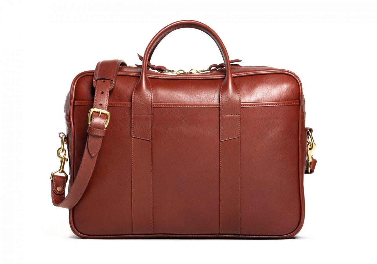 Commuter Briefcase Leather Chesntut3
