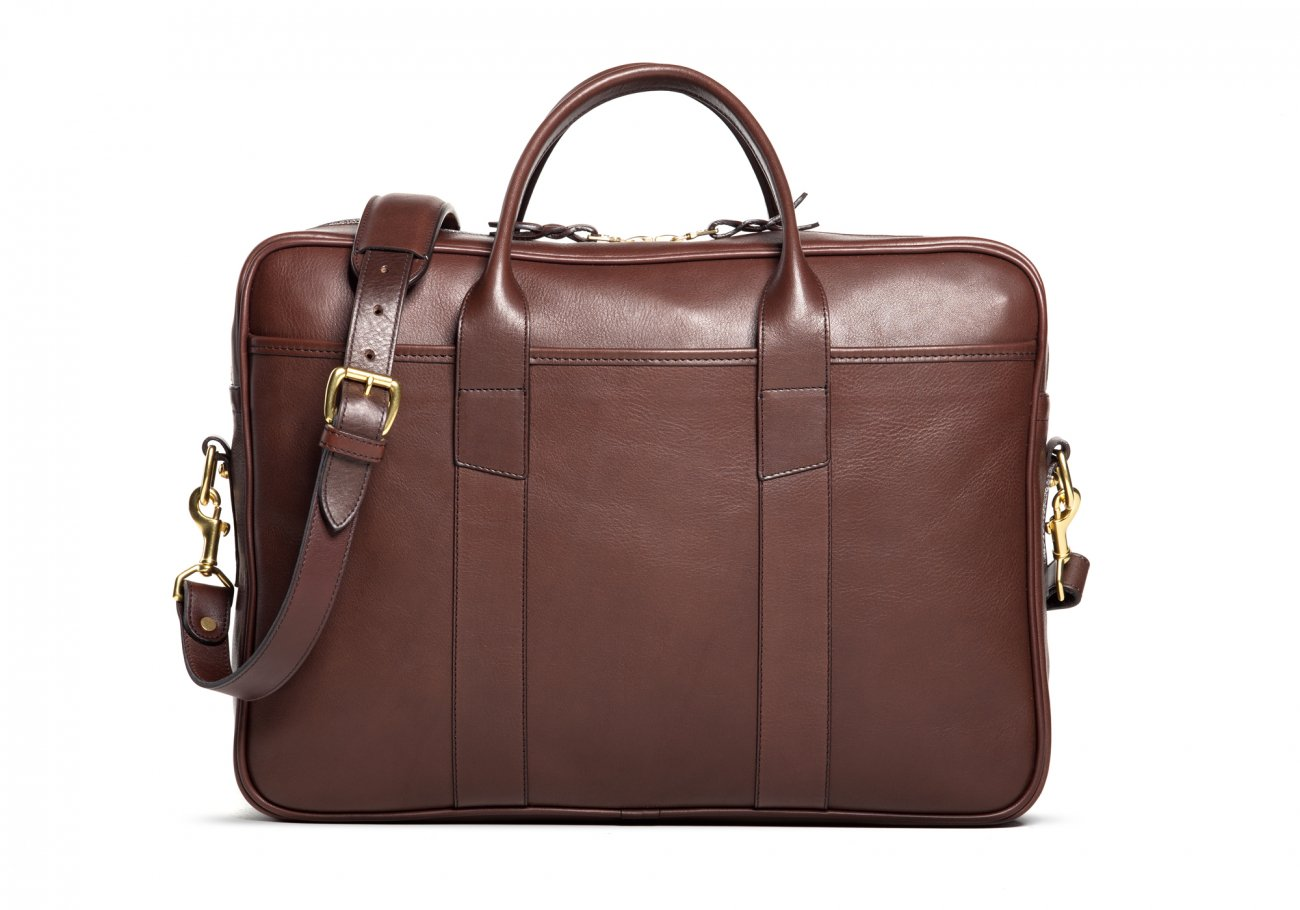 Commuter Briefcase Leather Chocolate5
