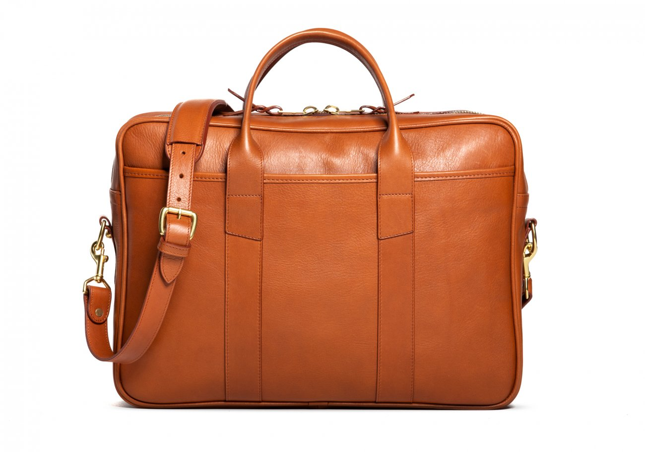 Commuter Briefcase Leather Cognac4