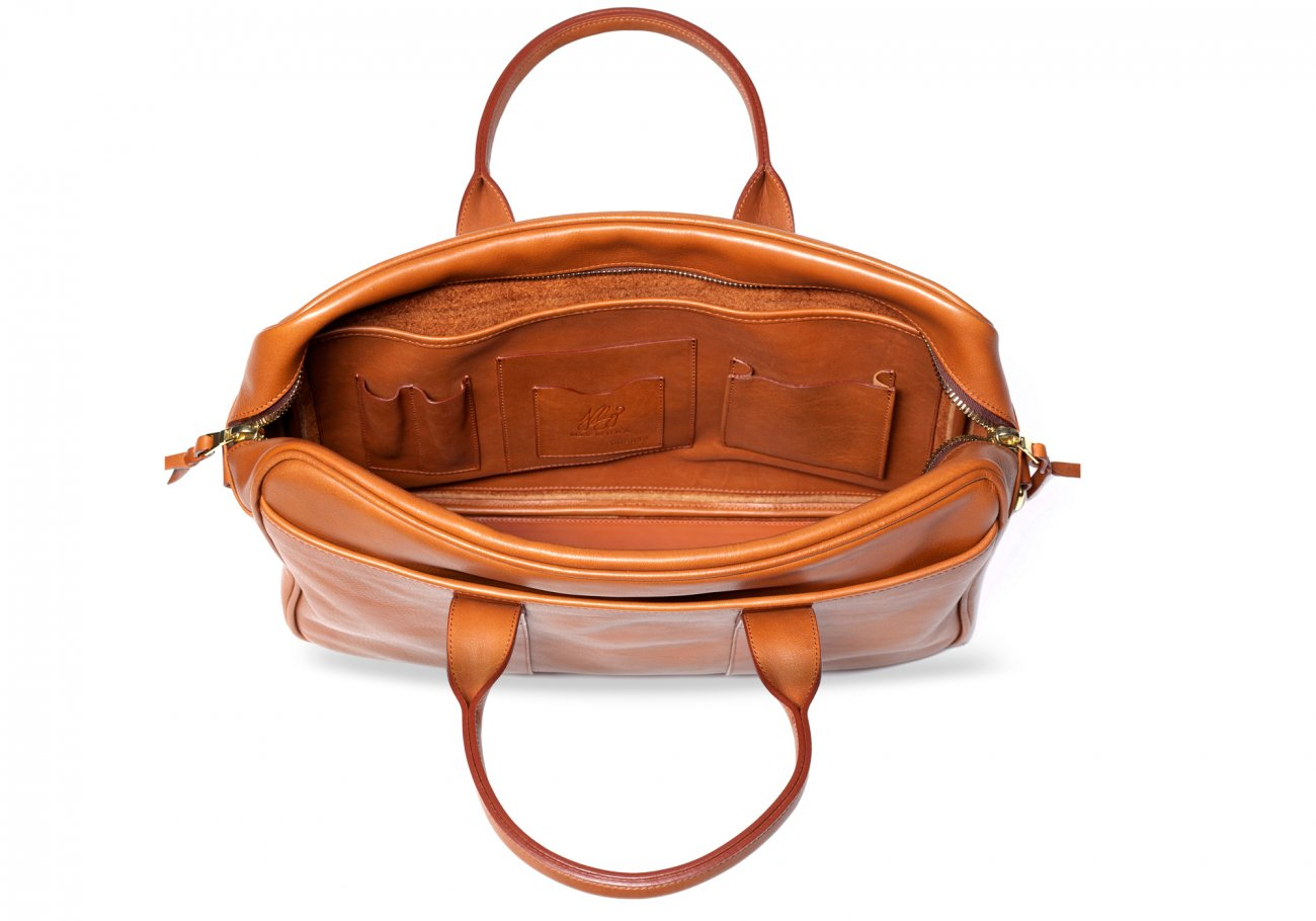 Commuter Briefcase Leather Cognac7